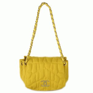 CHANEL Bag Yellow 128