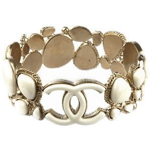 CHANEL Gold Jewelry CC Bracelet